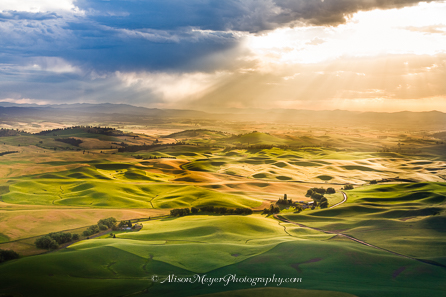"""Magic Light Over the Palouse Hills"""