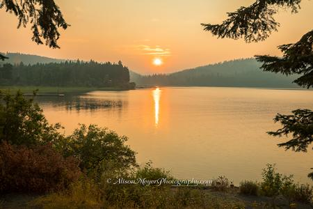 """Sunset Over Lake Coeur d'Alene, Idaho"""